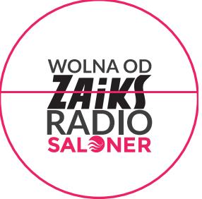 Naklejka Radio Saloner - Wolne od ZAiKS