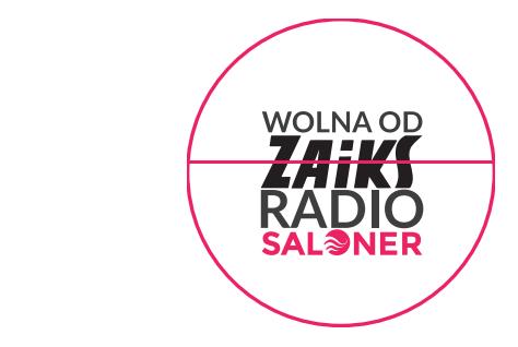 naklejka Radio Saloner