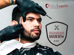 oferta MedLegalis, młody mężczyzna u barbera